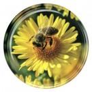 Deckel TO 82 Metall,Blüte mit Biene
