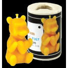 Kerzenfom Bär mit Herz (5 cm)