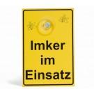 """Saugnapfschild """"Imker im Einsatz"""""""