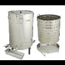 Dampfwachsschmelzer 100 Liter Edelstahl inkl. Hockerbrenner